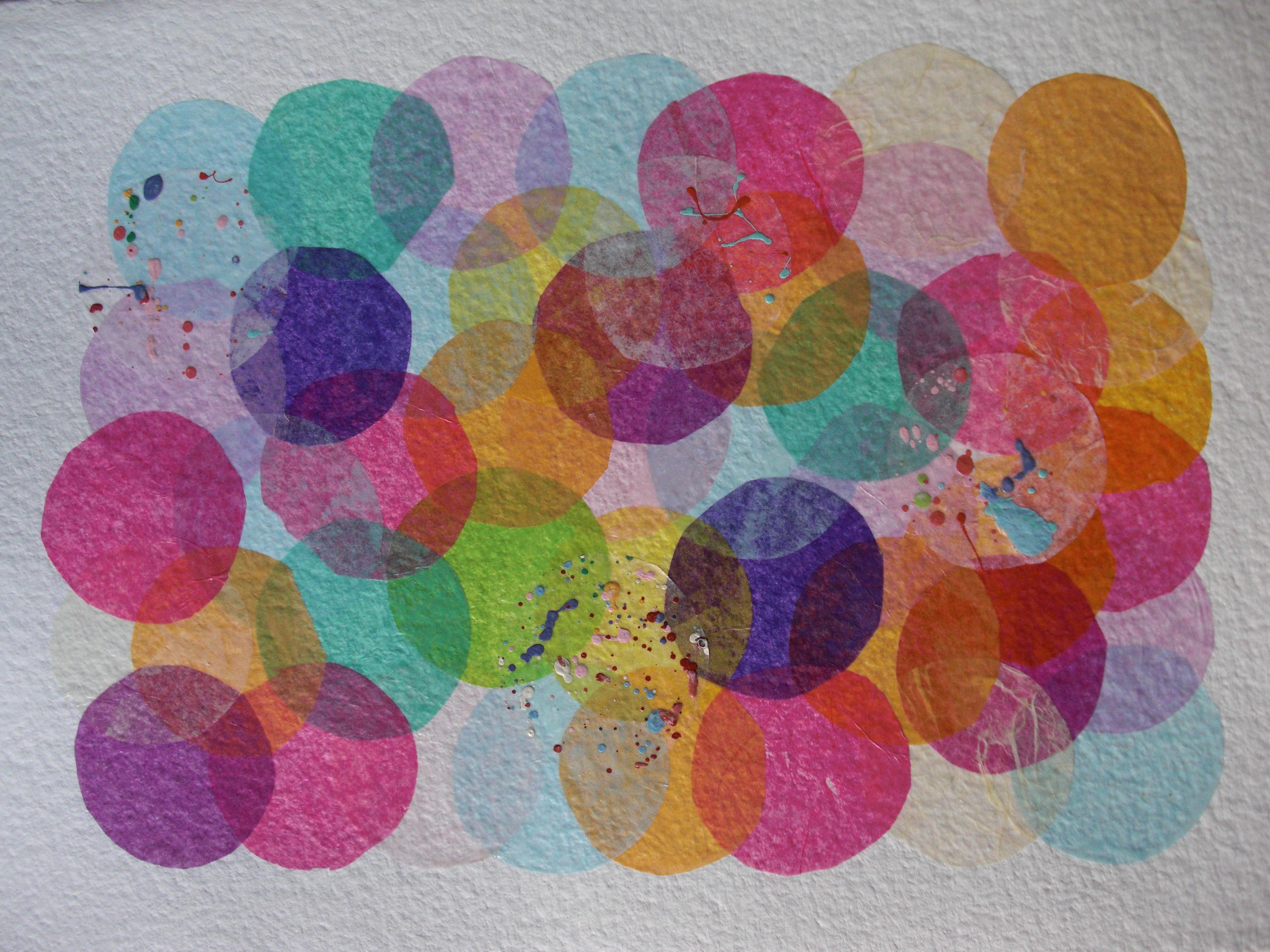 pastilles papier collage papier de soie sur papier aquarelle 2009 pascalinefontaine. Black Bedroom Furniture Sets. Home Design Ideas