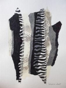 Collages (papiers de soie+encre de chine + acryliq sur papier aquarelle) 2009