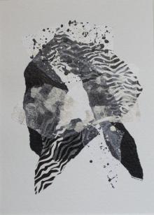 Collages (papiers de soie + encre de chine + acryliq sur papier aquarelle) 2009
