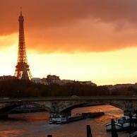 Coucher soleil Tour Eiffel
