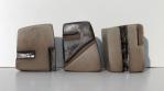 Petits formats: 3 cubes Terre cuite Brune émaillée. 10 2014