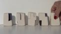petites formats: 5 cubes terre cuite blanche et engobes 2013